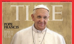 The cover of Time magazine's Person of the Year issue, featuring Pope Francis