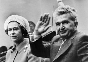 British Royalty, London, England, 1978, HRH Queen Elizabeth II with Romanian President Nicolae Ceausescu as they travel across London in the State Coach, Ceausescu, on a State visit, is the first Communist leader to be treated this way  (Photo by Rolls Press/Popperfoto/Getty Images)